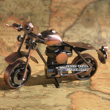 Vintage model of the boys birthday gift metal cars motorcycle decoration Small