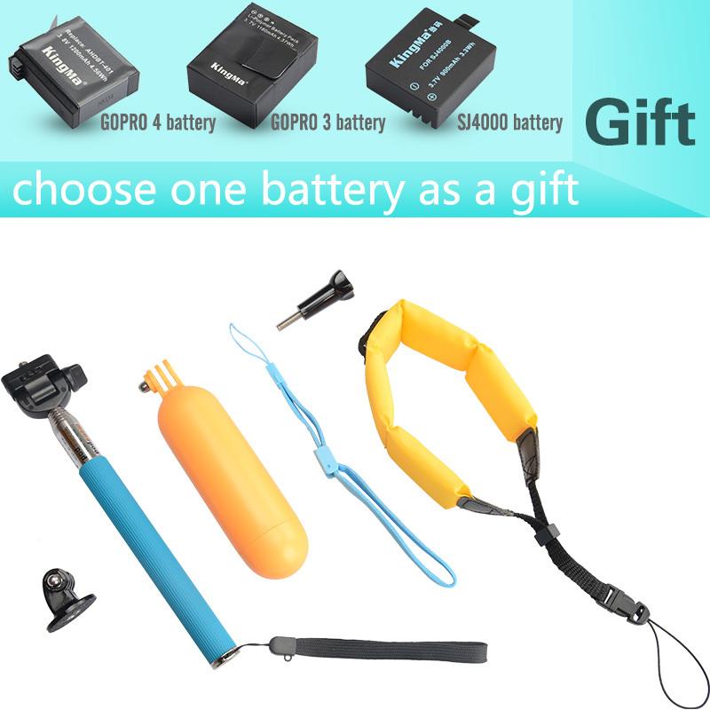 Gift One Gopro Hero 3 Or 4 Or SJ4000 Battery.Bobber Floating Mount Grip