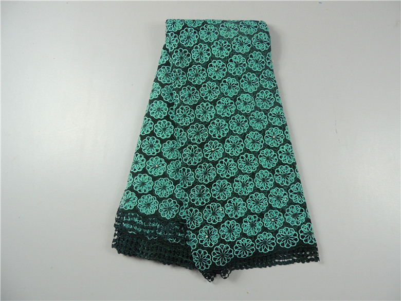 Free shipping! 2015 african cord lace latest unique high quality Cupion lace fabric design for Nigerian wedding dresses