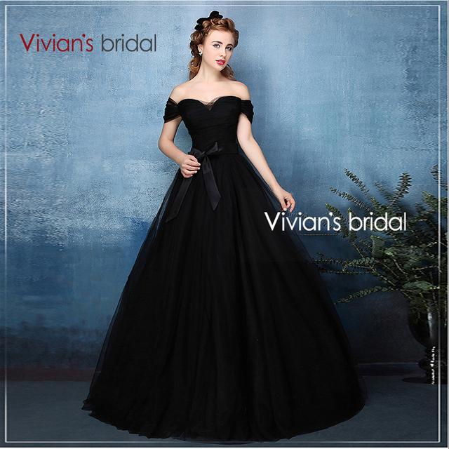 Вивиан свадебные Новый стиль 2016 off-плечу бальное платье черные свадебные платья винтаж тюль зеленый свадебное платье XX07
