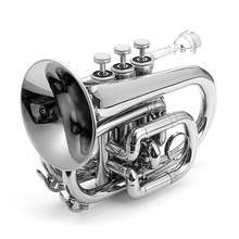 Lade Bb Mini Pocket Trumpet In Lacquer Finish With Case & Accessories(China (Mainland))