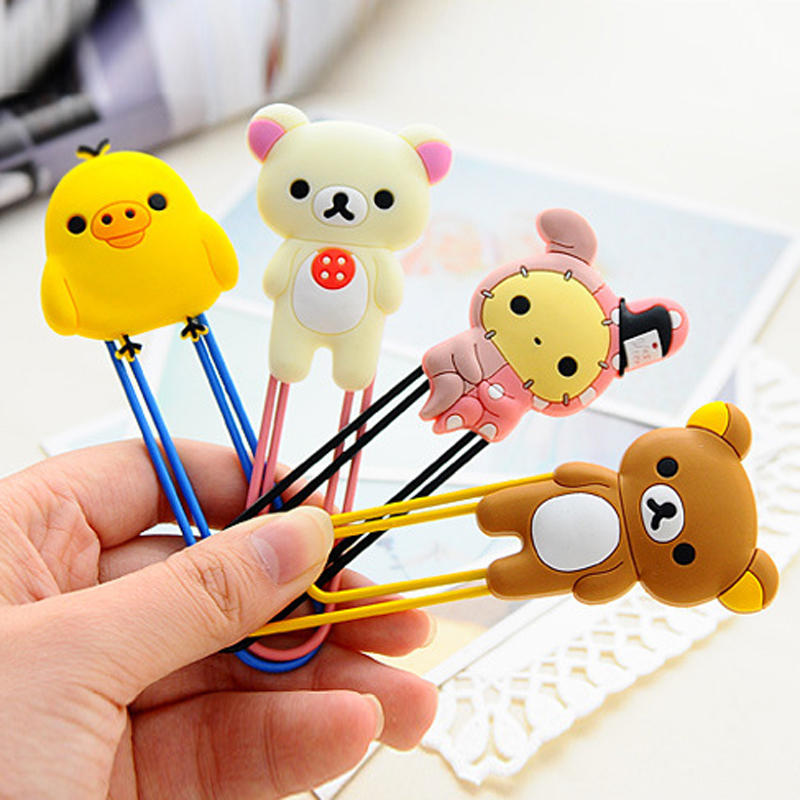 New Big Size Cute Cartoon Animals bookmark For Books Creative big paper clip 670(China (Mainland))