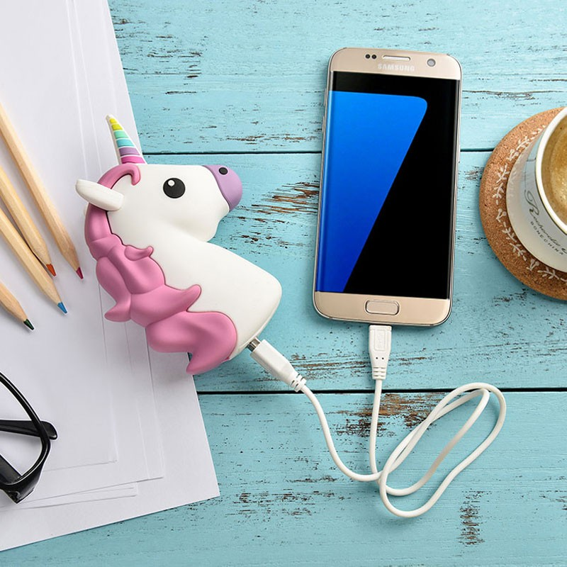 New cartoon power bank demon unicorn kiss Poo emoji powerbank Portable External Battery Battery pack for all mobile phones