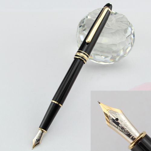 Stationery Fountain Pen Best Design Iridium Point Pen Office Supplies Metal Golden And Black(China (Mainland))