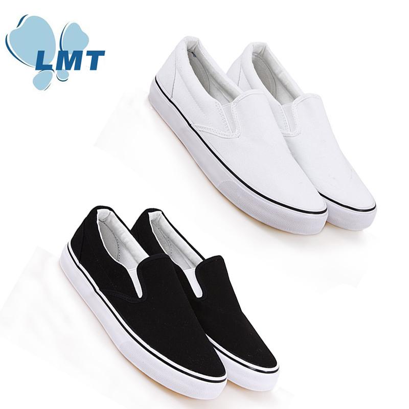 Drop shipping online shop Simple design plain white slip on shoes sneakers no laces unisex Flats slip on sneakers online shop(China (Mainland))