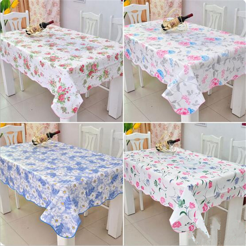 1Pcs New Fashion PVC European Rural thickening Printing tablecloth waterproof and oil tablecloth Tea table cloth(China (Mainland))