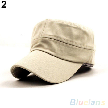 NEW Women Men Fashion Summer Adjustable Classic Army Plain Vintage Hat Berets Military Cap 1QCI 4NGN 7EJA 9644
