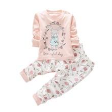2 pcs Infant Kids Baby Long Sleeve Shirt+Pants Toddler Pajamas Set Sportsuit(China (Mainland))