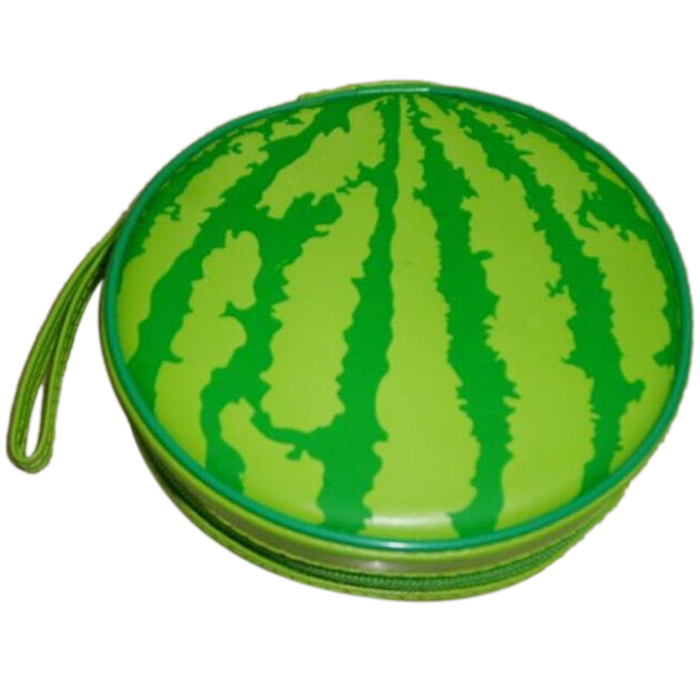 Best selling Green Watermelon Pattern 24 Capacity CD DVD Round Wallet Case Holder(China (Mainland))