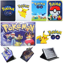 Pokemon Go Leather Case Cover Stand for Chuwi Vi7 Android 5.1 3G Phablet 7 inch Quad Core Tablet PC