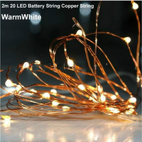 10pcs/lot 9 Colors Waterproof Portable 2M 20 LED Battery String Fairy lights For Christmas Party wedding Garden Camping Lights