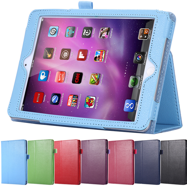 Tablets Accessories Book Style Leather Flip Case For Apple iPad Air Smart Stand Full Protect Bag Classic Cover For iPad 5