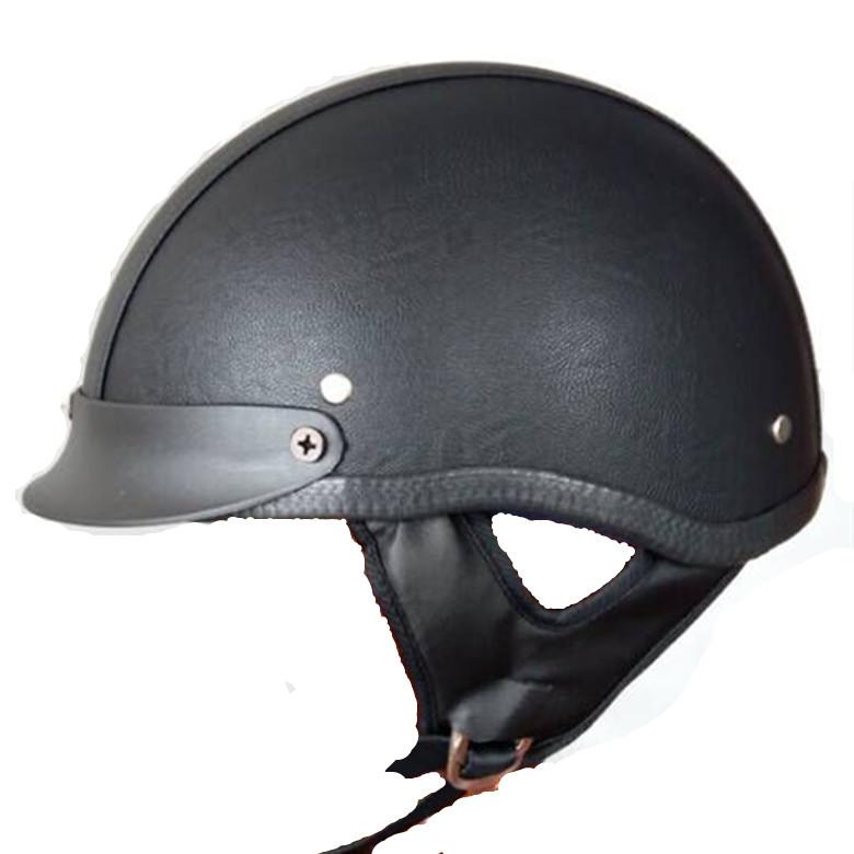 DOT Approved Motorcycle Motorbike Cruiser Vintage Harley Half Helmet Sun Shield M L XL(China (Mainland))
