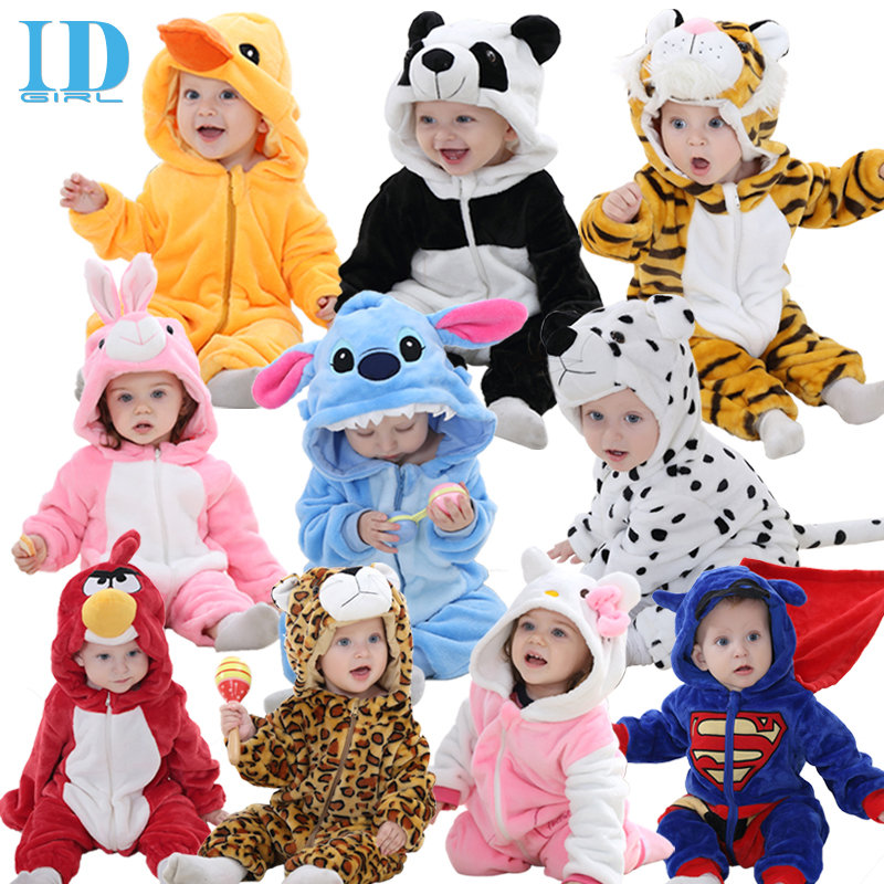 IDGIRL Spring Autumn Baby Clothes Flannel Baby Boy Clothes Cartoon Animal Jumpsuit Baby Girl Rompers Baby Clothing XYZ15088(China (Mainland))