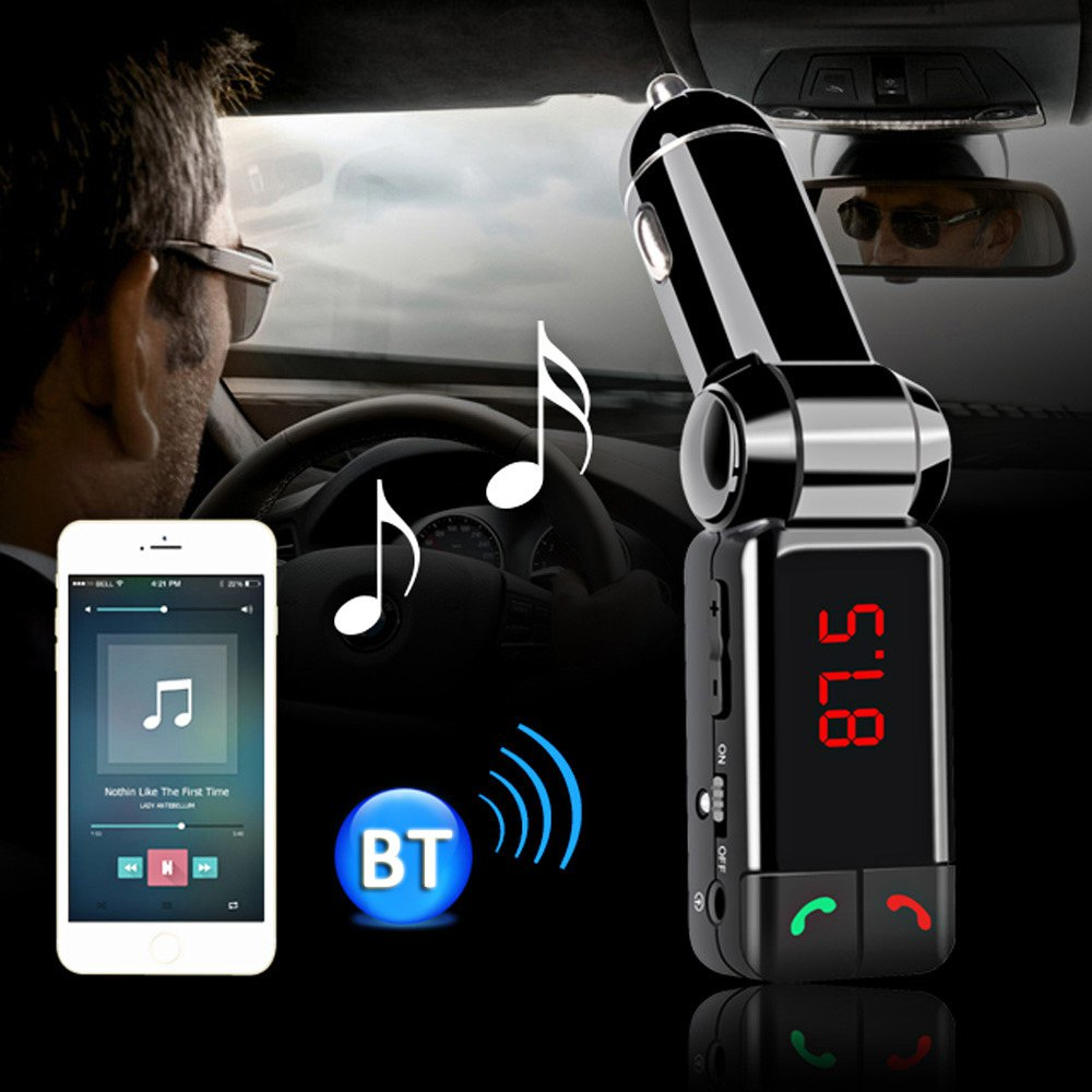 Bluetooth FM Transmitter Car Audio MP3 Player Wireless FM Modulator HandsFree Car Kit LCD Display USB Charger for iPhone Samsung(China (Mainland))