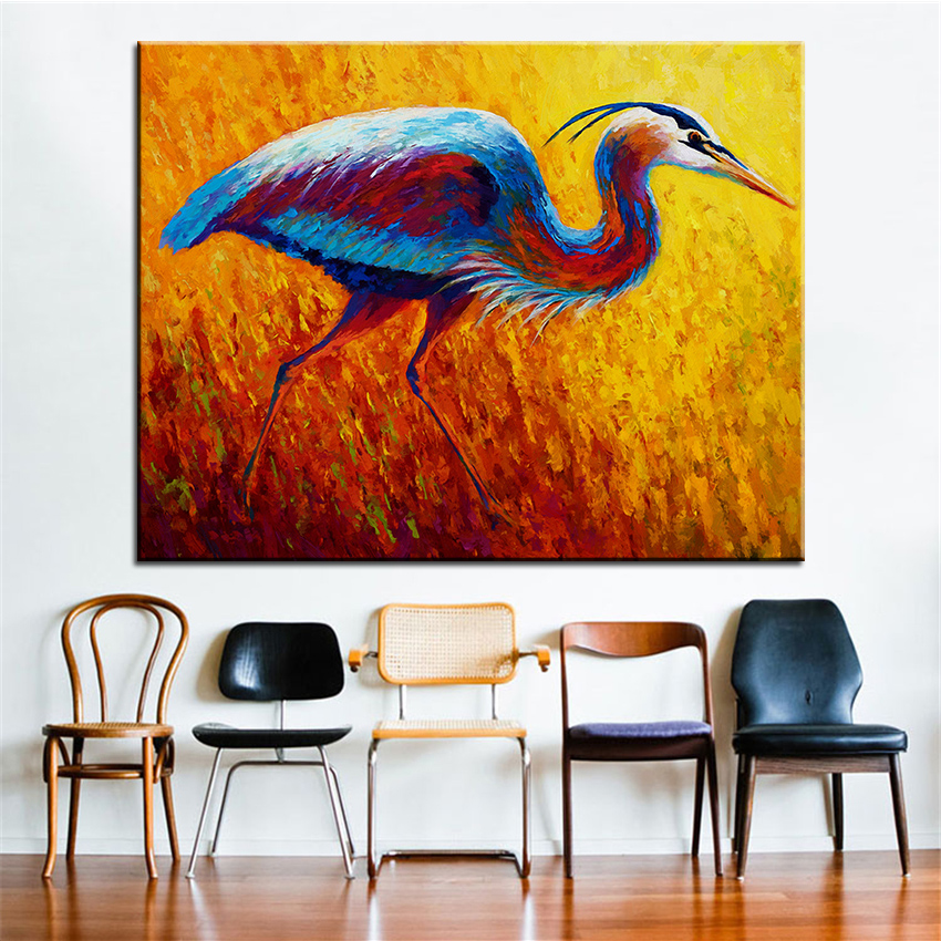 Large size Printing Oil Painting blue heron 2 Wall painting Steampunk Wall Art Picture For Living Room painting No Frame(China (Mainland))