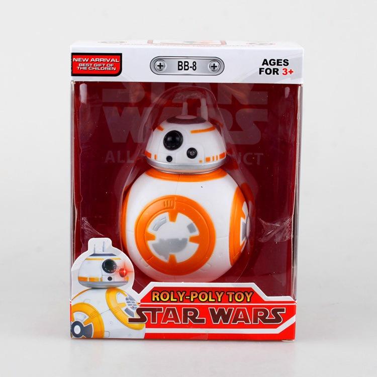 1pcs/set BB8 Star Wars BB-8 The Force Awakens Droid Robot Tumbler Touch Luminous Voice Darth Vader Original PVC Collection 11cm(China (Mainland))