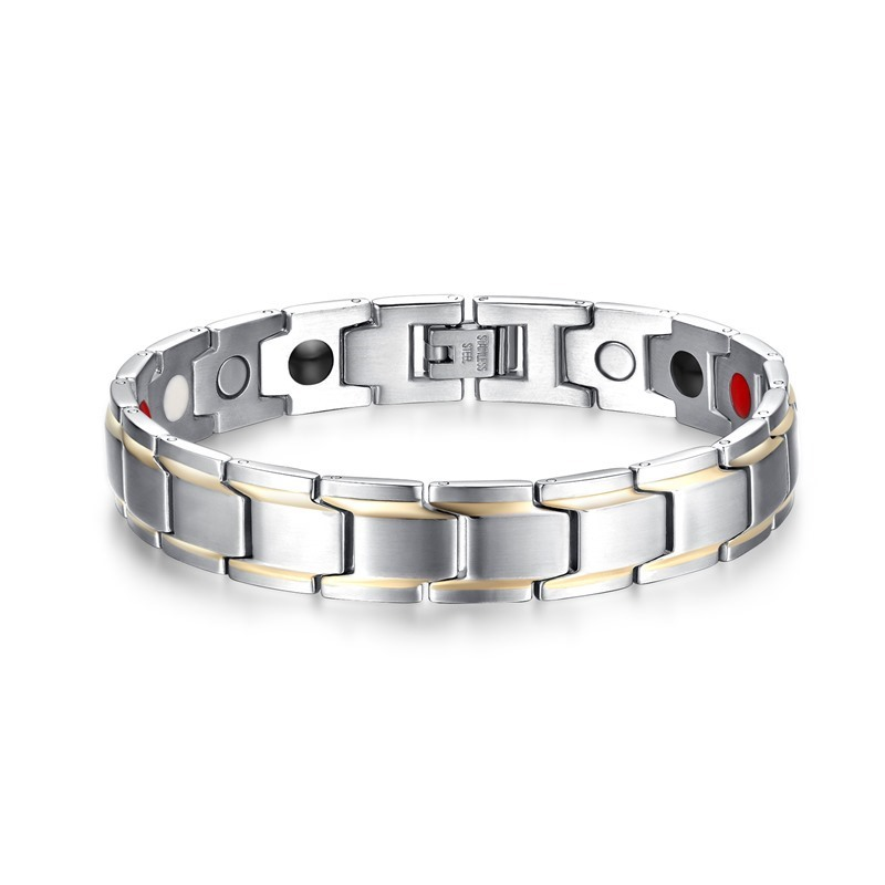 TB Stainless Steel Bracelet for Women Man Clover Gold and Silver Color Pulseira Feminina Lover's Engagement Jewelry