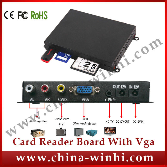 Shopping memory card advertising media player with vga output Guaranteed 100% Factory Direct Hot Products Speedy Delivery(China (Mainland))