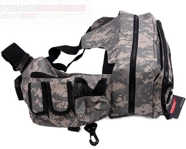 Multifunctional waterproof bag,waist pack, messenger bag, fishing tool bag nano Camouflage DROP SHIPPING