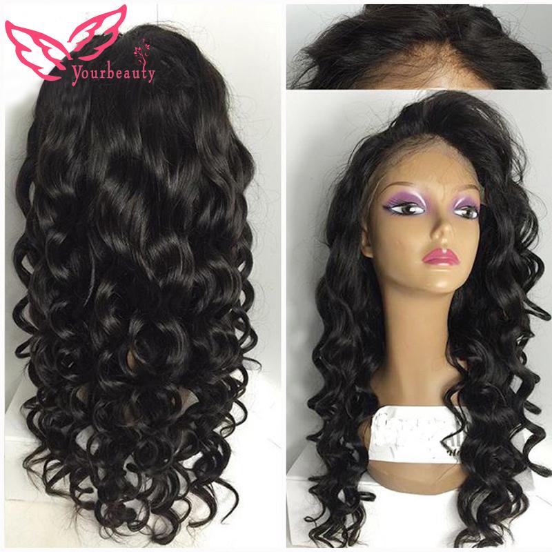 Virgin Malaysian Straight Wig Glueless Full Lace Malaysian Silky Straight Wig With Bangs Virgin Human Straight Hair Wig DHL Free<br><br>Aliexpress