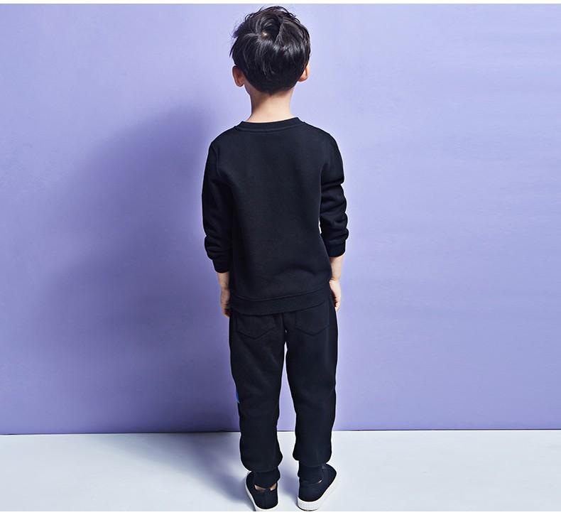 Скидки на Pioneer Дети 2016 Мальчиков Комплект Одежды Осень Зима 2 Шт. Наборы с капюшоном Пальто Костюмы Осень Хлопок Большие Мальчики комплект Одежды для мальчиков