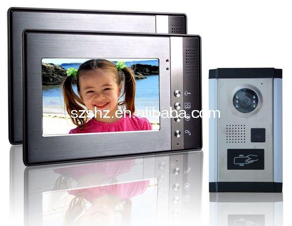 7'' color ID x video door phone techno phone(China (Mainland))