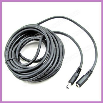 5x New 5m 16ft DC Power Extension Female Jack Cable 5.5mm/2.1mm for CCTV Security Camera 12 Volt