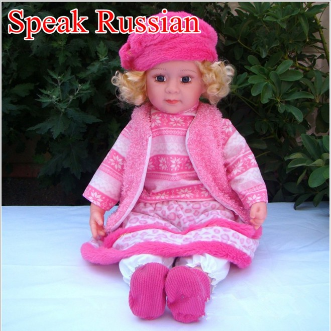 Fast delivery NEW 2014 Smart baby speak Russian Will say the story Can sing doll dolls for girls electronic toys birthday gift(China (Mainland))