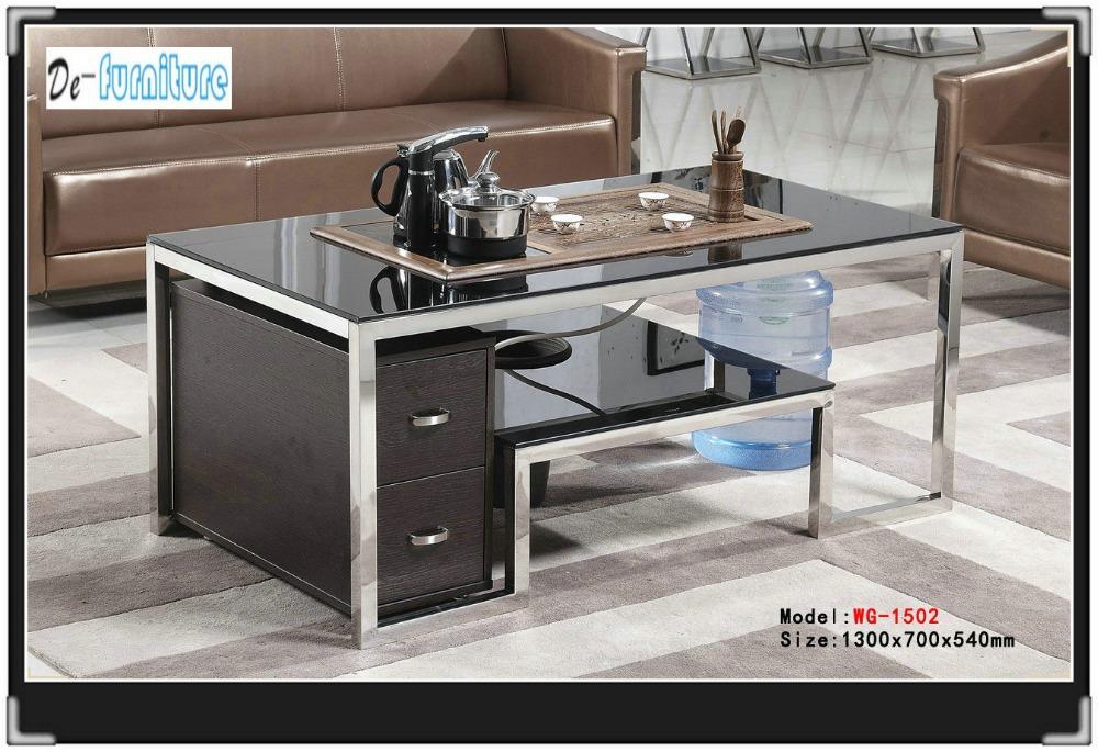 1502 table de th meubles de salon table en verre tremp dans tables basse - Table de salon en verre trempe ...