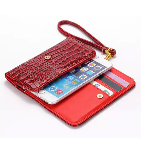 Luxury Crocodile Style Wallet Card Cover Case Mobile Phone Pouch PU Leather Bag +Strap for Sony Xperia M4 Aqua Dual(China (Mainland))