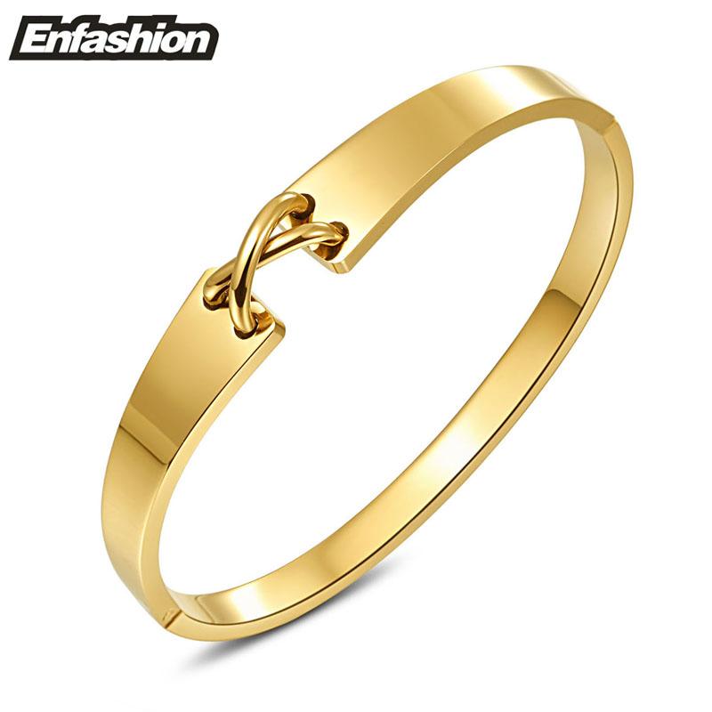 Enfashion Jewelry Punk Cross Cuff Bracelet Noeud armband Gold Bangle Bracelet For Women Bracelets Manchette Bangles Pulseiras(China (Mainland))