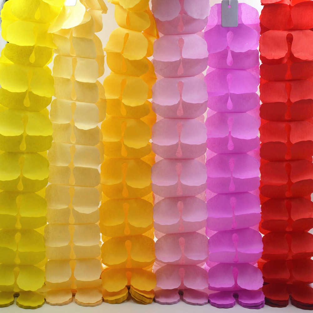 Diy Birthday party colorful paper garlands wedding boda supplies decorations honeycomb ball ornaments Free shipping 3.6m(China (Mainland))