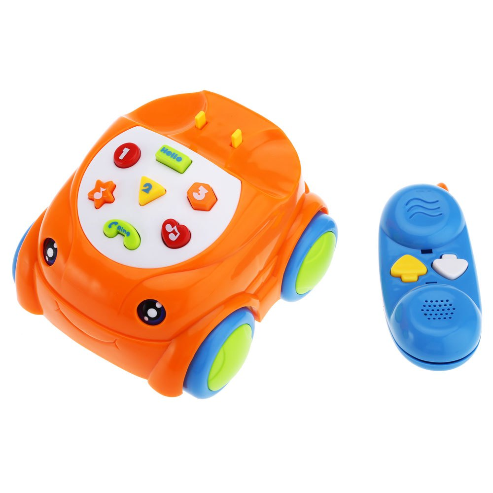 HOT Sale Baby Musical Remote Control Phone kids Early Learning Educational Toys Cute RC classic telliphone car for children(China (Mainland))