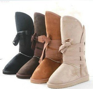 Free Ship 2012 Winter Woolen Lace Up Snow Women Boots Shoes ladies,quality fashion designer lace up plush inner warm snow boots(China (Mainland))