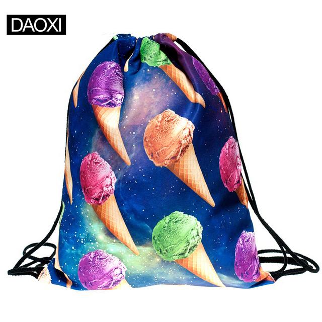 Новый 2015 эсколар рюкзак 3D печать путешествия softback мужчина женщины mochila ...