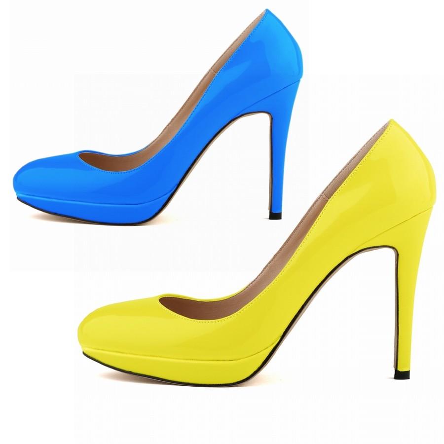 Black And Yellow Heels - Is Heel