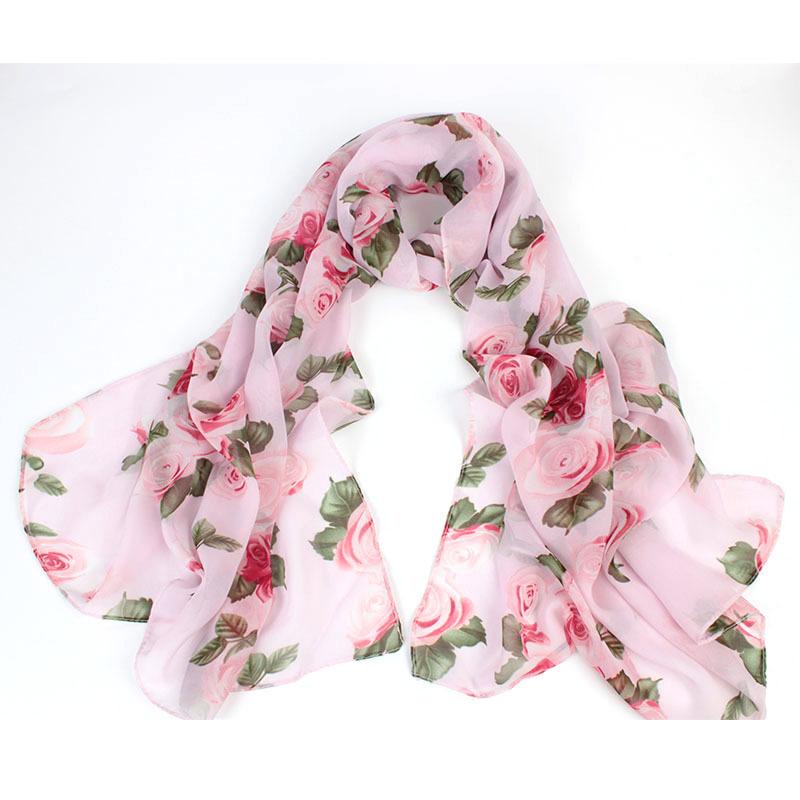 Бесплатно дамский цветок цветочный любовника роуз шарф шифон шарф петля бесконечности желтый зеленый пляж шаль