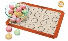 425*295*0.7mm or 16.53*11.61 Inch Silpat Macaron Baking Mat 20 Circles Indents Half Sheet Size Silicone Cookie Baking Liner(China (Mainland))