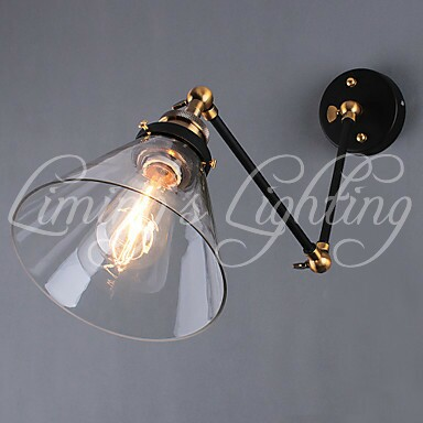 The American village restaurant wall simple pastoral iron retro living room bedroom study bar aisle wall lamp wall lamp<br><br>Aliexpress