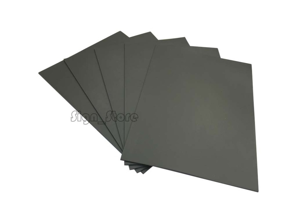 A4 Gray Rubber Sheet 2.3mm Stamp Printing Engraving Co2 Laser Engraver Low Odor(China (Mainland))