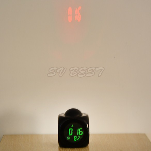 hot sales!!!Multifunction Colorful led clocks Talking Projection alarm clock table clock Time and Temperature Display 54(China (Mainland))