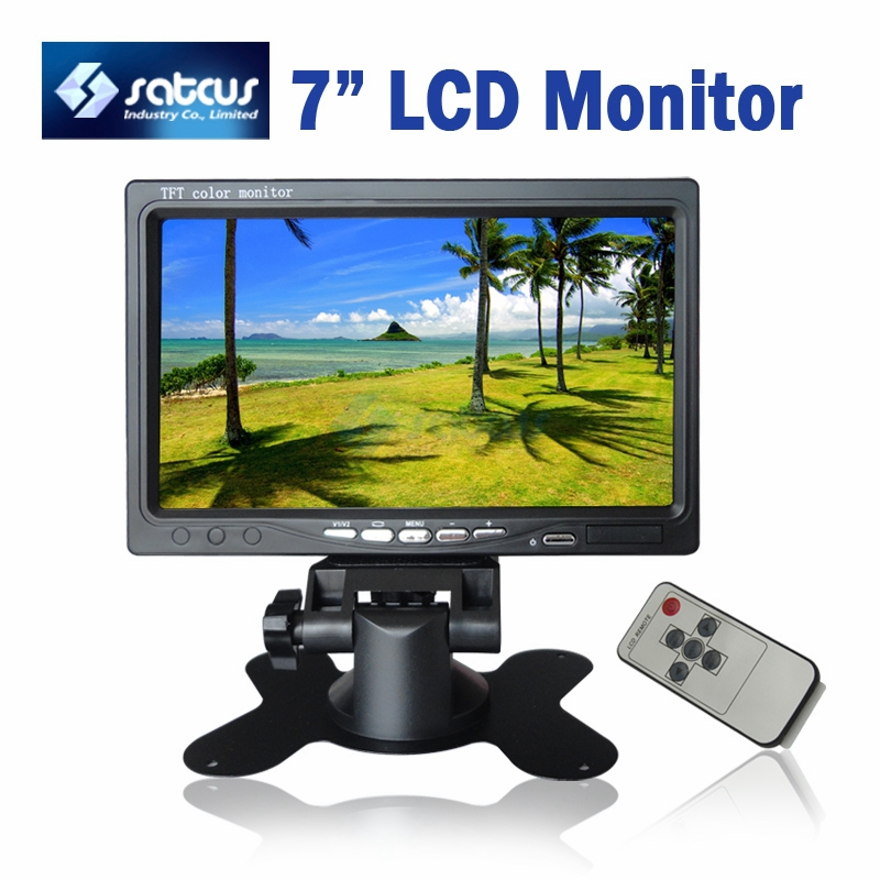 7 Inch TFT LCD CCTV Monitor A+ Screen 2 Video Input + 1 DC In + Remote Control<br><br>Aliexpress