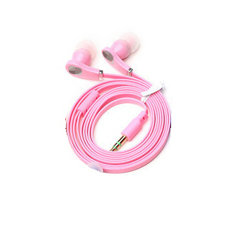 Best new Flat Cable 3 5mm Earbud Earphone Headphone headset For Samsung iPhone 5 6 6s