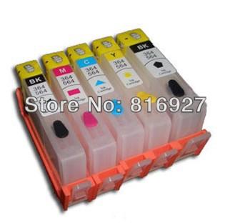 ! 100% guaranteed! hp364 refill printer B8550 B109B refillable ink cartridge permanent chips - MP TECH store