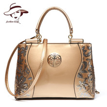 Buy New Luxury Europe Fashion Women Bag Embroidery Sequined Chains Patent Leather Famous Brand Shoulder Handbag Ladies Messenger Ba for $28.72 in AliExpress store