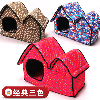 Лежанка для собак Pet bed dog house 2015 dog nest teddy bichon guibin pet dog house small zize
