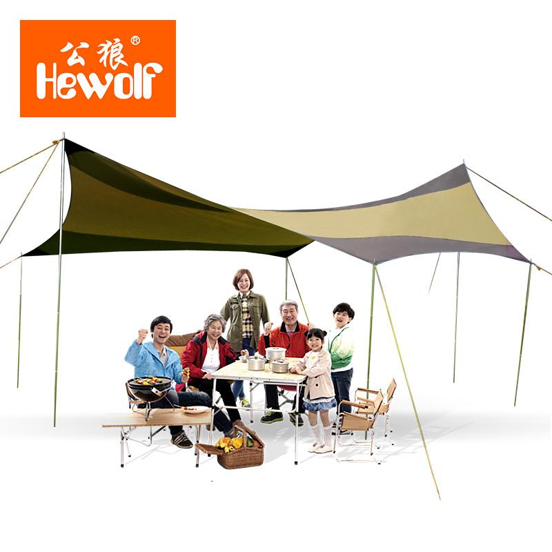Anti-male wolf Tents awning sun shade gazebo car sun shade canopy large canopy camping tarp shelter waterproof canopy tent