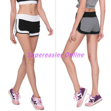 Buy Sexy Women's Fitness Sporting Shorts Sweatpants Patchwork Elastic Waist Side Split Casual Workout Ladies Shorts Sportswear for $8.99 in AliExpress store