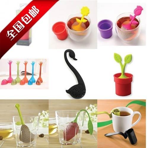 Little swan tea spoon colander tea strainer tea filters tea device plant+animals free shipping